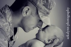 baby portraits of army fathers - Google Search