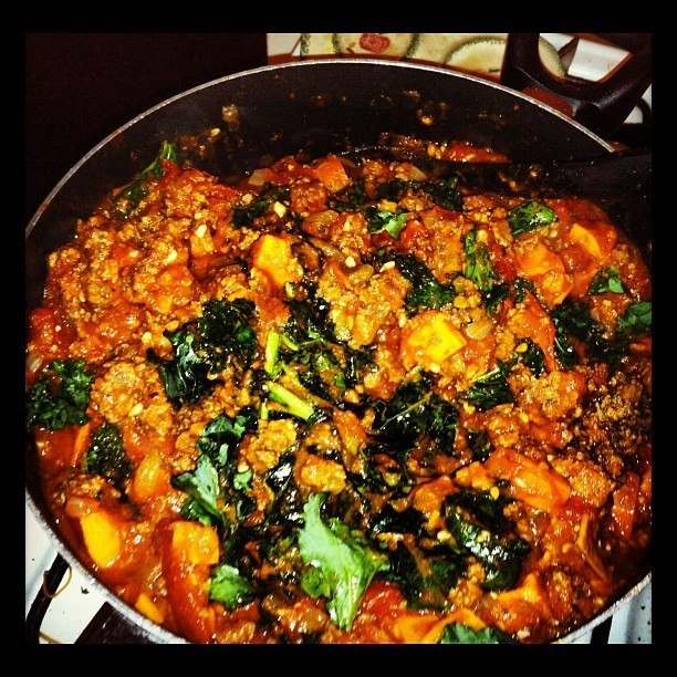 ... kale chili | Slow Cooker Recipes | Pinterest | Sweet Potato Kale, Kale