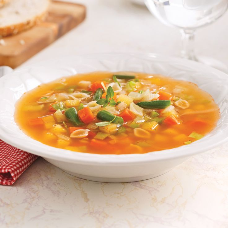 Soupe aux légumes - Recettes - Cuisine et nutrition - Pratico Pratique