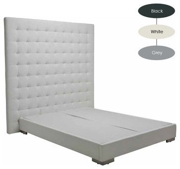 Steven Queen Bed, Black modern beds
