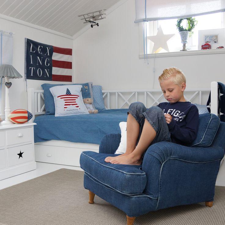 Hemma hos kund - Howardfåtölj Englesson och kudde Lexington - annashjärtan.blogspot.com