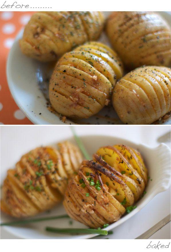 Parmesan Cheese Hasselback Baked Potato