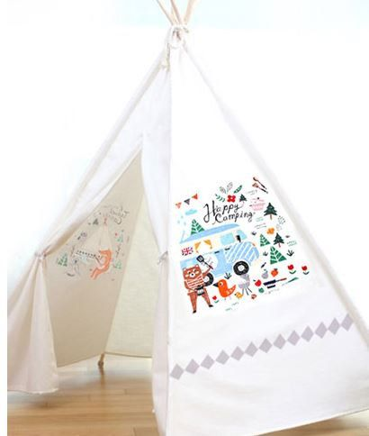 Camping Design Panel Cotton Fabric 2 Designs by luckyshop0228
