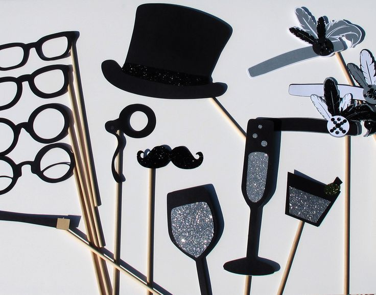 Wedding Photo Booth Props - 1920's Inspired Props. $75.00, via Etsy.