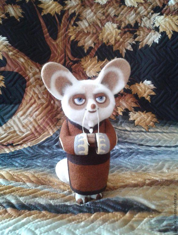 Купить Мастер Шифу - кунг фу панда, персонажи мультфильмов, подарок, валяная игрушка