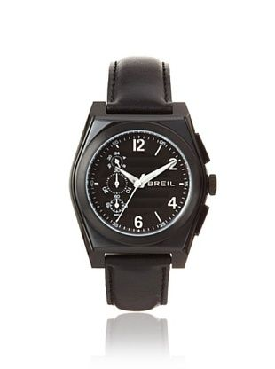 Breil Men's BREILM-TW0927 Black Genuine Leather Watch