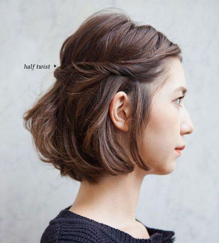Le carré torsadé - 10 coiffures rapides et pratiques pour les vacances - Elle