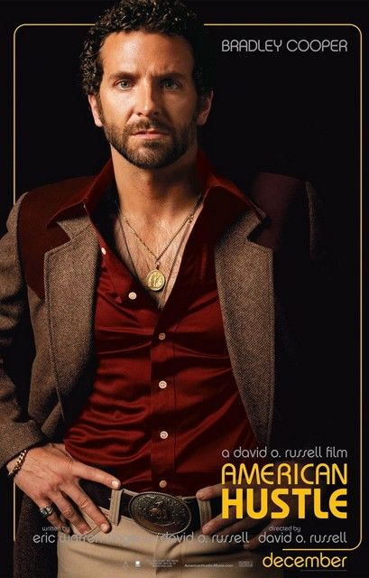 A great poster of Bradley Cooper as Richie from David O Russell's movie American Hustle. Ships fast. 11x17 inches. Need Poster Mounts..?