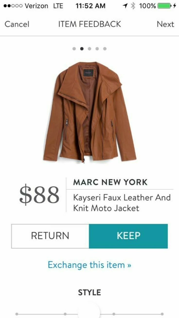 Dear stitch fix, I like this jacket a lot but not in this color. A dark brown or a wine color maybe?