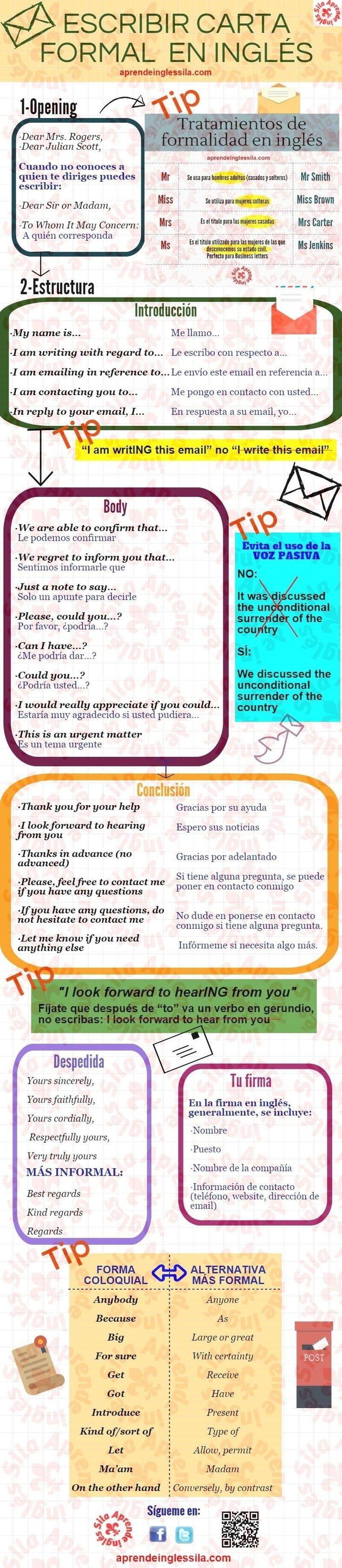 carta formal en inglés                                                                                                                                                      Más
