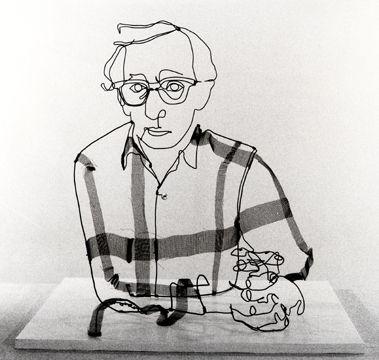 Woody Allen Wire Sculpture