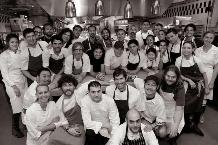 Agata Felluga, Blaine Wetzel, Virgilio Martínez, Fulvio Pierangelini, Claude Bosi, Daniel Burns, Ben Shewry, René Redzepi, Alex Atala, Rosio Sanchez, Ana Ros, Rodolfo Guzman, Karime Lopez, Magnus Nilsson, Danny Bowien, Daniel Patterson, Gabrielle Hamilton, Daniel Boulud, and David Chang are some of the chefs pictured above.
