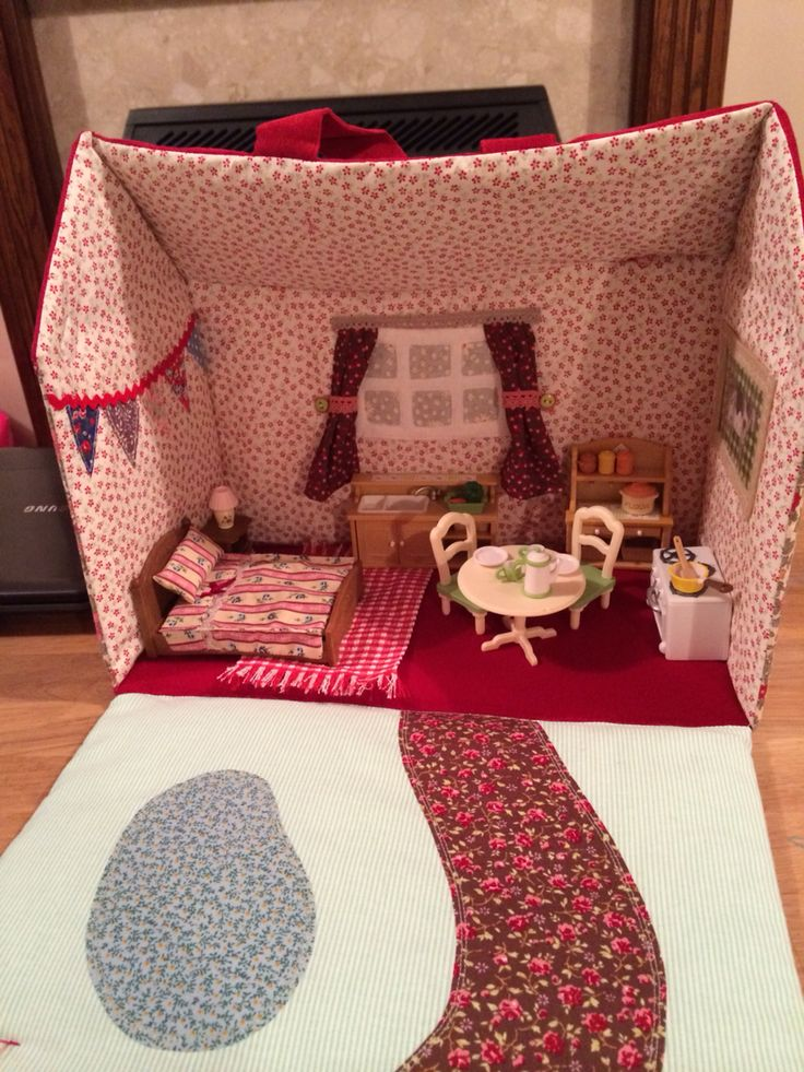 Fabric doll house interior