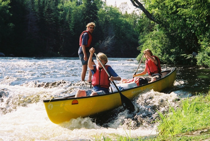 Canoeing at Birch Rock Camp Boys summercamp in