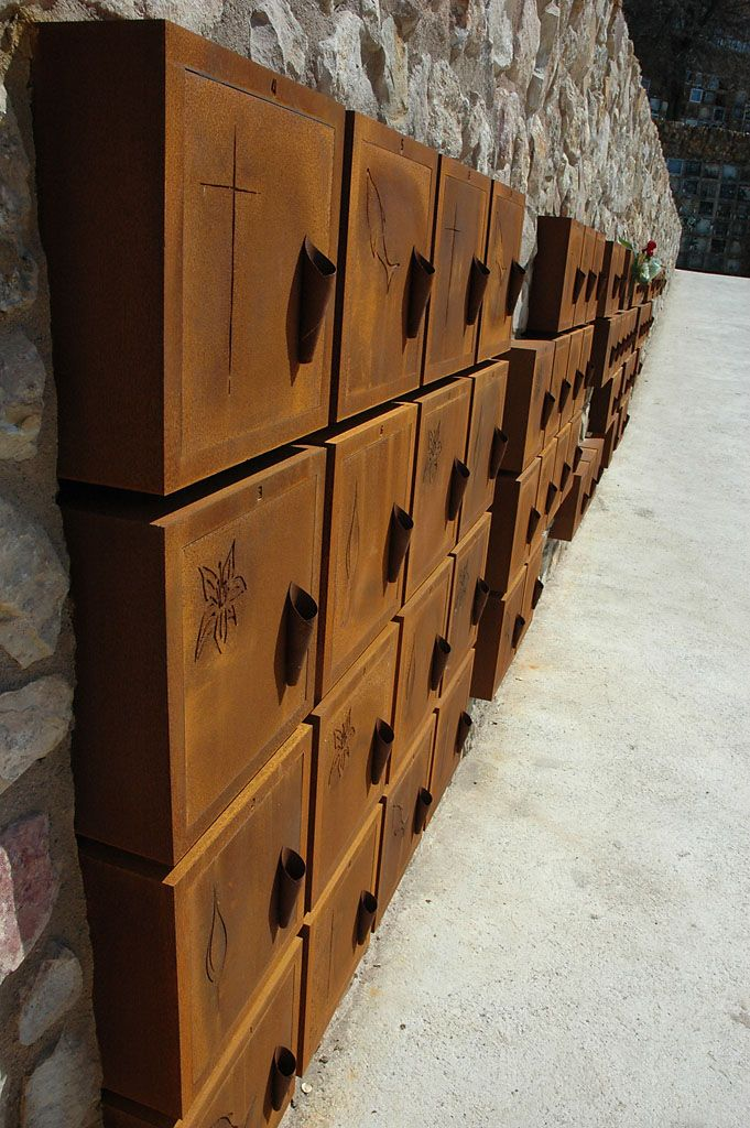 13 best cremation niches for sale images on pinterest - Acero corten ...