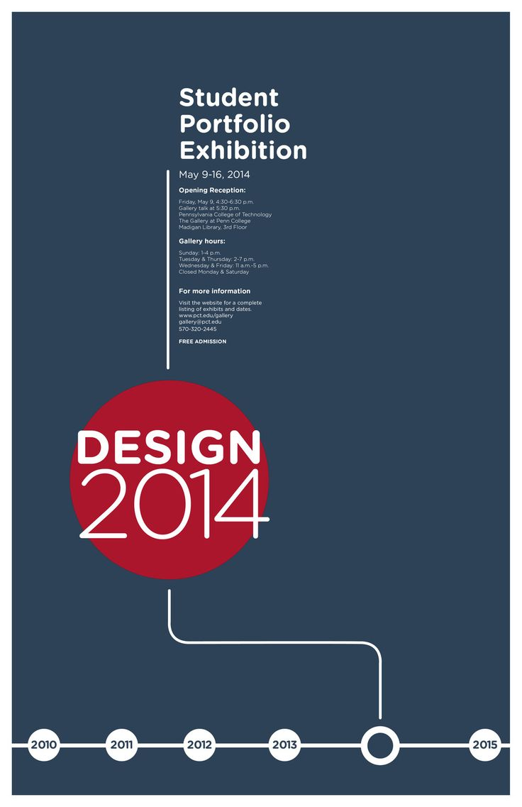 Poster design for students - Pennsylvania College Of Technology Student Portfolio Exhibition 2014