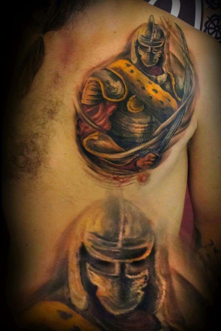 #ink #inked #tattoo #tattooartis #color #colortattoo #chestpiece #studio #bardo #studiobardo