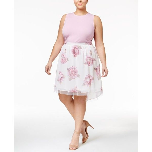 Disney Beauty and the Beast Trendy Plus Size 2-Pc. Dress (120 CAD) ❤ liked on Polyvore featuring plus size women's fashion, plus size clothing, plus size dresses, mauve mist, mauve dress, white dress, disney dresses, plus size white dress and disney