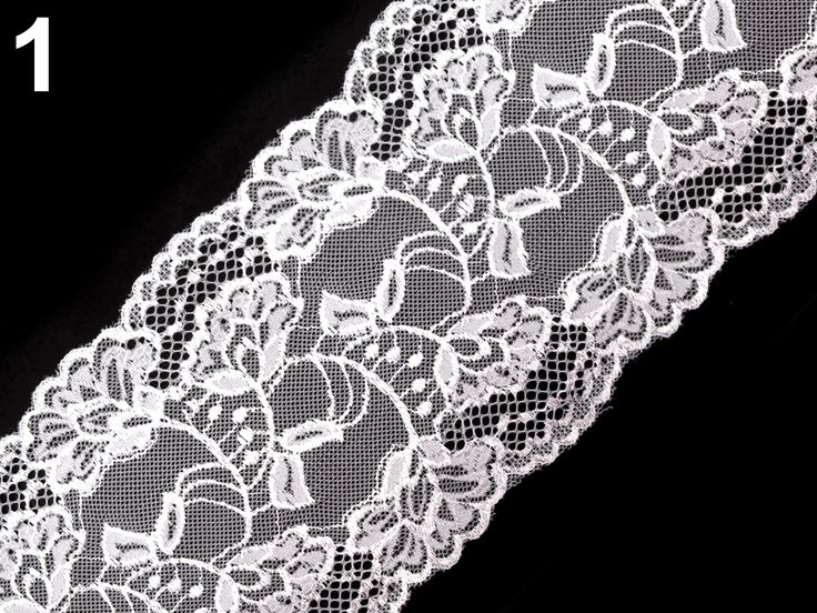 bílá+elastická+krajka+šíře+15cm,cena+za+0,5m+elastická+krajka+v+pruhu+širokém+15cm+v+bílé+barvě-polyamid/elastan,cena+za+0,5m.NZ
