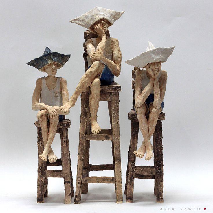 Rzeźby ceramiczne oryginalna dekoracja Arek Szwed