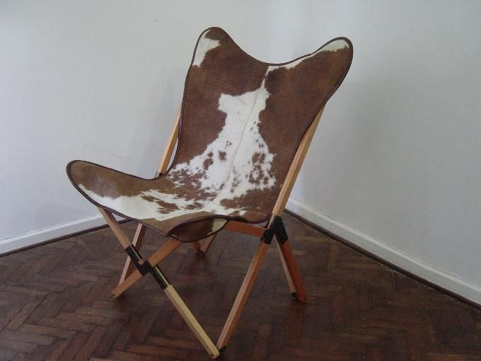 Cowhide Tripolina Chair Foldable Butterfly Butterfly