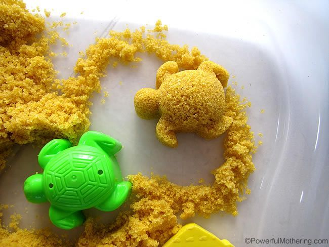 3 ingredient - Taste Safe Moon Sand - follow me for more awesome ideas! pinterest.com/powermothering