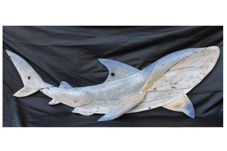 """SHARK"" Sculpture in wood by Artea 50x150 Visit Artea Shop by the link:  http://www.mirabiliashop.com/artea.htm Special selection of Mirabiliashop.com tha mall of italian excellents"