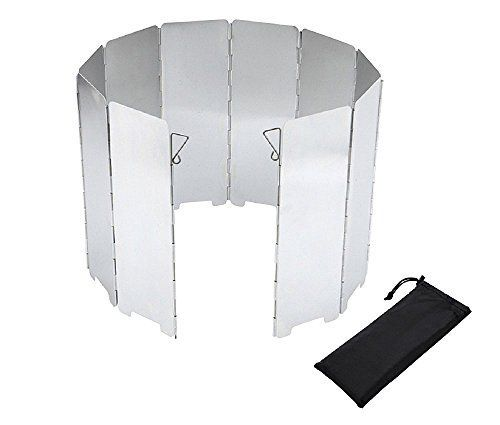 Camp Stove Windshield  Bluelasers 10 Plates Folding Camping Picnic Cooker Stove Wind Screen -- Want to know more, click on the image.
