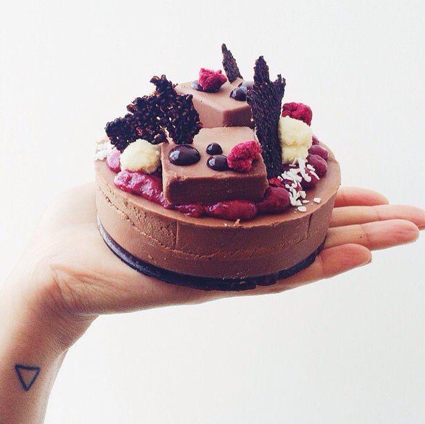 Vegan Raspberry Cheescake @panachocolate