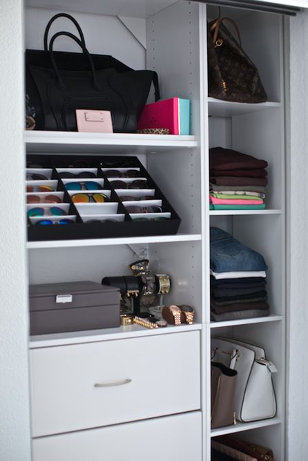 Organizing a small closet is all about quality vs quantity. Showcase what you LOVE to see!