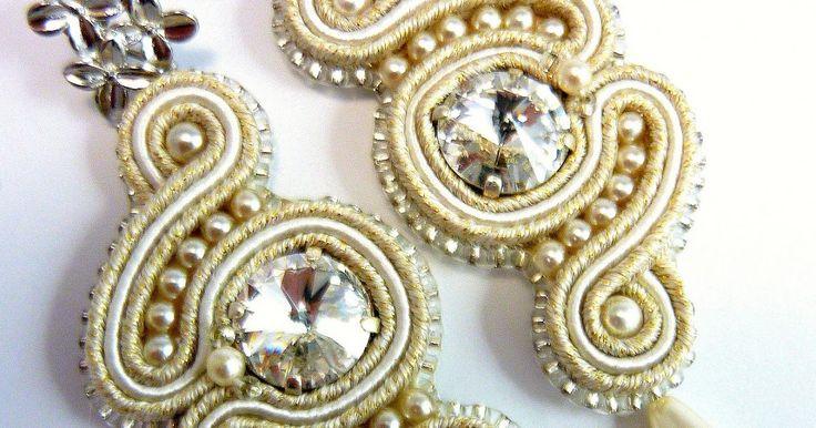 soutache earrings, soutache jewellery, soutache jewels, cucito a mano con amore, handmade with love, anello metallo galvanizzato ricamato a mano, strass swarovski, necklace, Parure Handmade jewelry, bridal soutache jewelry, Handmade ring, anello fatto a mano, anello vetro, soutache ring, embroidered jewelry, beaded jewellery, gioielli fatti a mano, made in Italy, handmade crafts, soutache jewels, shibori ribbon jewelry, italian jewelry,italian handmade jewels, made in italy jewelry…