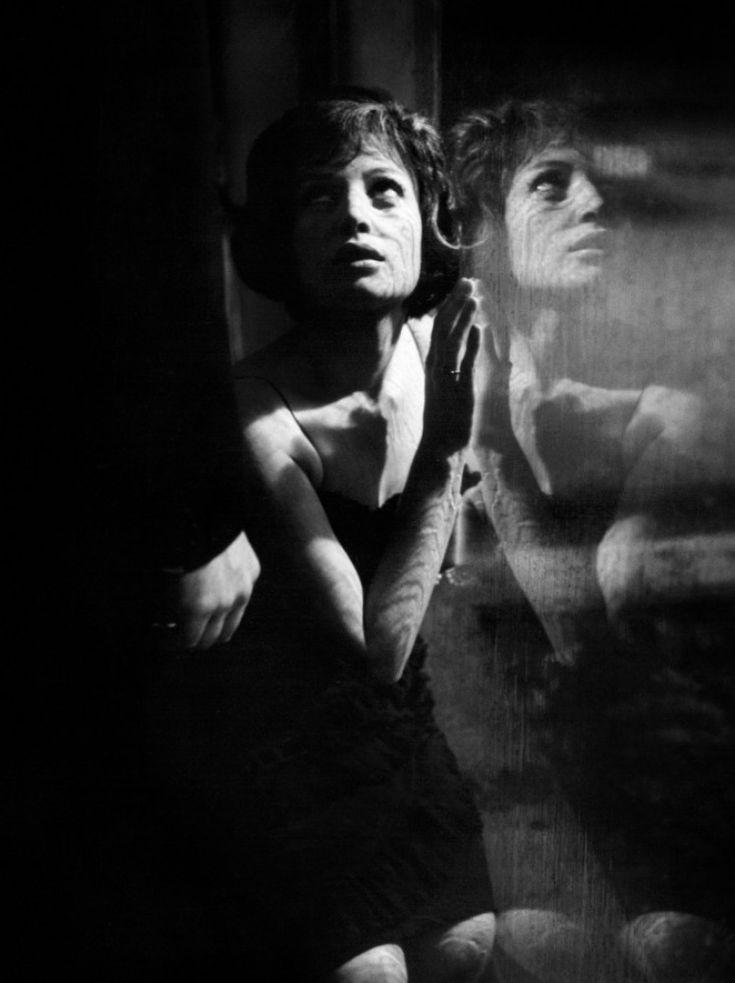 Monica Vitti with Marcello Mastroianni in La notte directed by Michelangelo Antonioni, 1961
