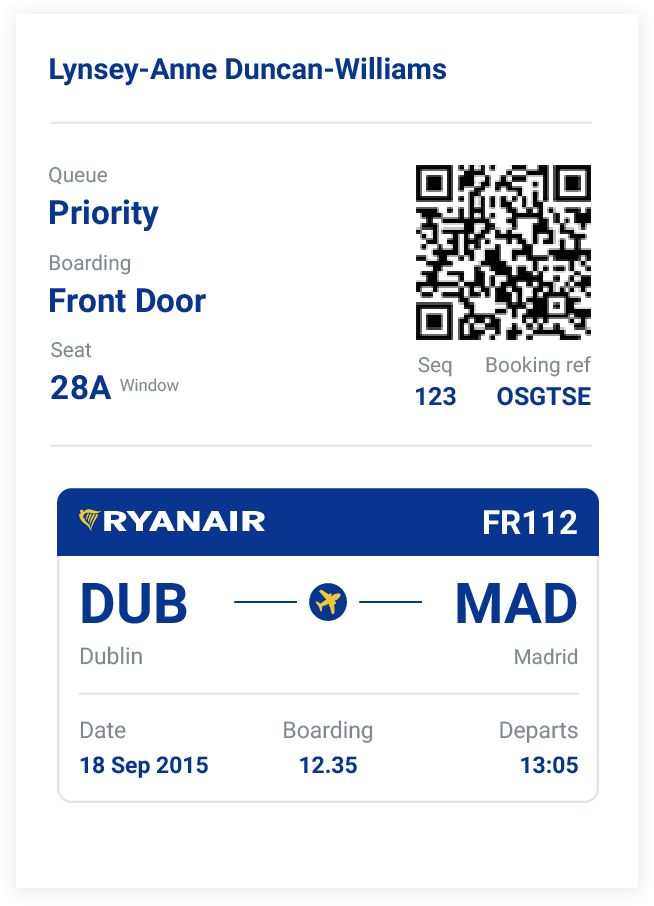Priority Queue U2014 Designing Ryanairu0027s Boarding Pass Boarding Pass   Fake  Plane Ticket Template  Fake Plane Ticket Template