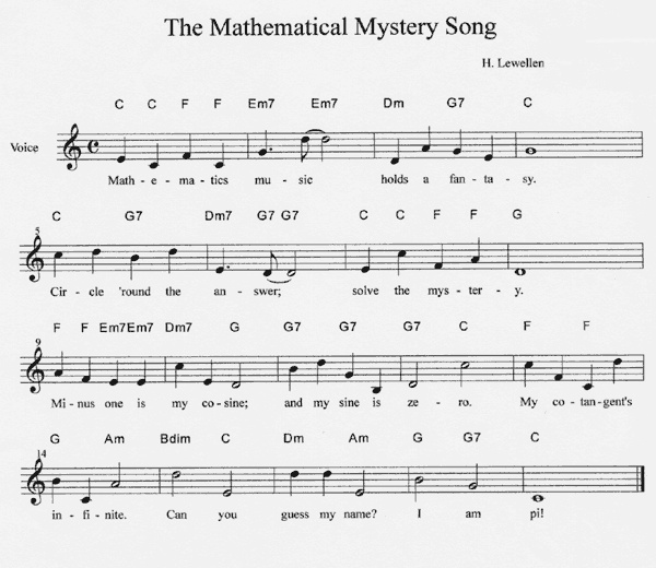 185 Best Images About Sheet Music On Pinterest: The Mathematical Mystery Song