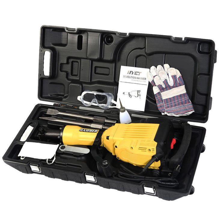 Industrial Duty Electric Demolition Handheld Jack Hammer Machine Tool chisel Set #Unbranded