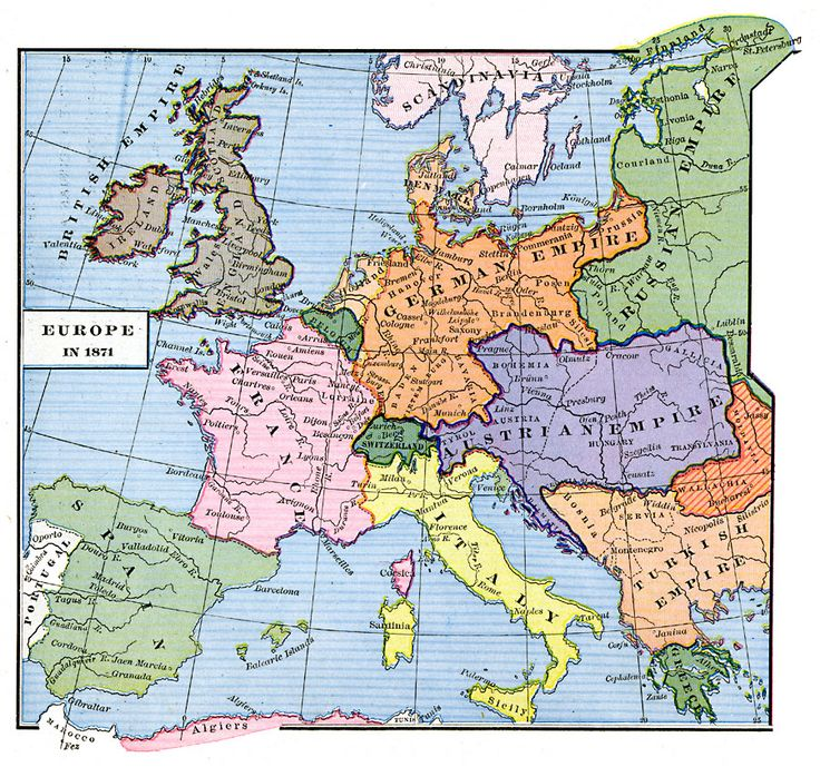 europe at the end of the franco prussian war 1871 european historybritish historyworld