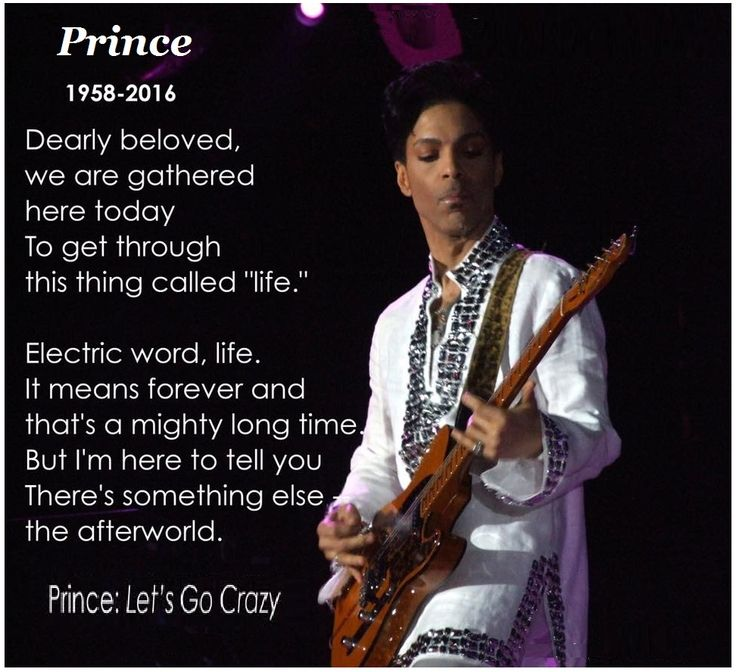 "Prince ~ ""Let's Go Crazy"".  Rest in peace, Prince. Your consummate musicianship and unparalleled genius will be greatly missed in this world. May your flame burn even brighter in the next. (Click pic for video.)"