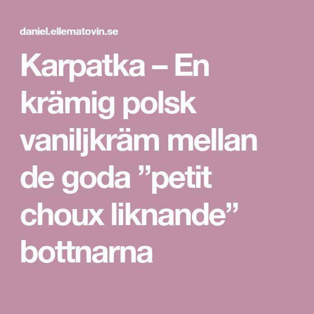 """Karpatka – En krämig polsk vaniljkräm mellan de goda """"petit choux liknande"""" bottnarna"""