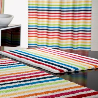 76 best salle de bain images on pinterest bathroom bathrooms and decorating staircase - Tapis rayures multicolores ...