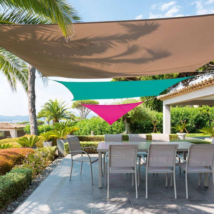 Voile d'ombrage Rectangulaire (2 x 3 m) Curacao - Taupe : choisissez parmi tous nos produits Voile d'ombrage