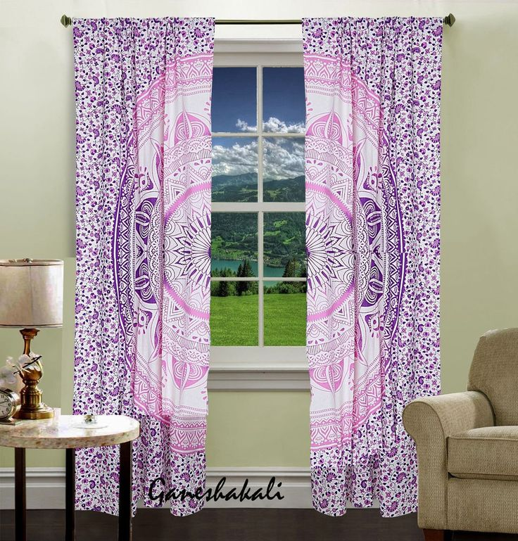 Mandala Tulle Voile Door Window Curtain Drape Panel Sheer Valances #Unbranded #Asian