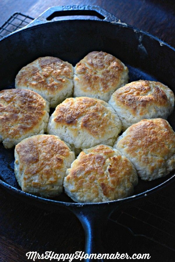 My Mama's BEST EVER Buttermilk Biscuits - no kneading or rolling required. It's Mama's 'secret method' that makes them so easy, foolproof, and the best dang biscuits you EVER have had. Trust me on this. Mama used to bribe with me a pan of them to all the household chores she didn't wanna do.... and it worked! No regrets!! These biscuits are SOOOO GOOD!!!