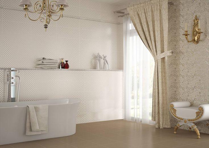 Obklady Aria, formát 20x50 cm, dlažba Xilo 15x90, zámecká koupelna   Série obkladů   SIKO KOUPELNY