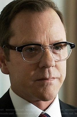 f92d75fdeb50 Dolabany Arnold in Black Crystal Eyeglasses as seen on Tom Kirkman in  Designated Survivor