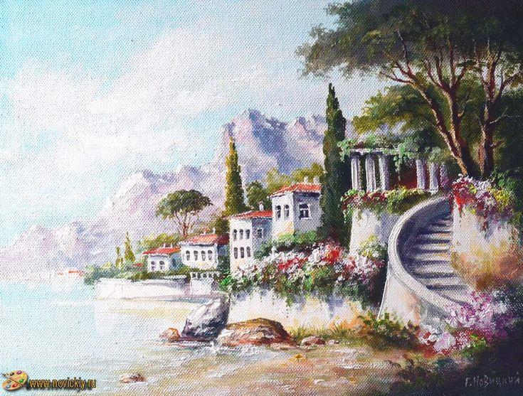 Средиземноморский пейзаж (2) - Средиземноморские пейзажи - Галерея - Картины для интерьера