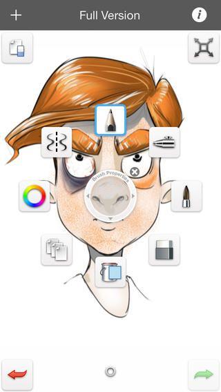 Sketchbook mobileX er gratis. Der er en købeversion der kan mere. Man kan arbejde med symmestri og tegne forskellige ting