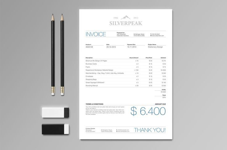 Use scale and hierarchy and color in an invoice to make it stand out