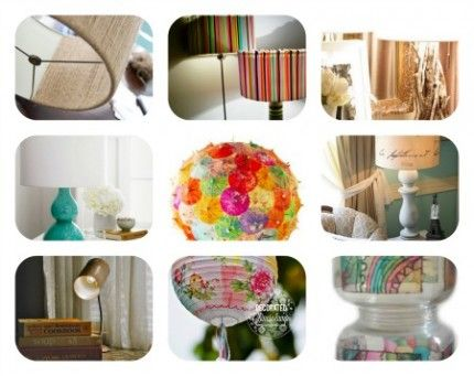 1000 lampshade ideas on pinterest diy lampshade for Diy lampshade ideas
