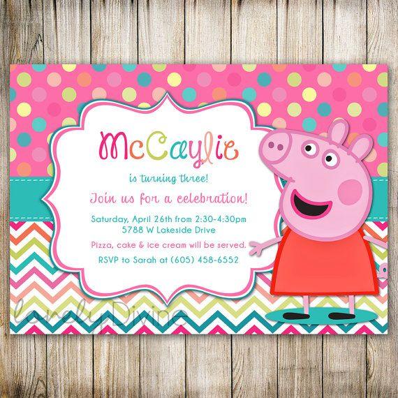 Best 25 Peppa pig birthday invitations ideas – 3rd Birthday Invitation Cards