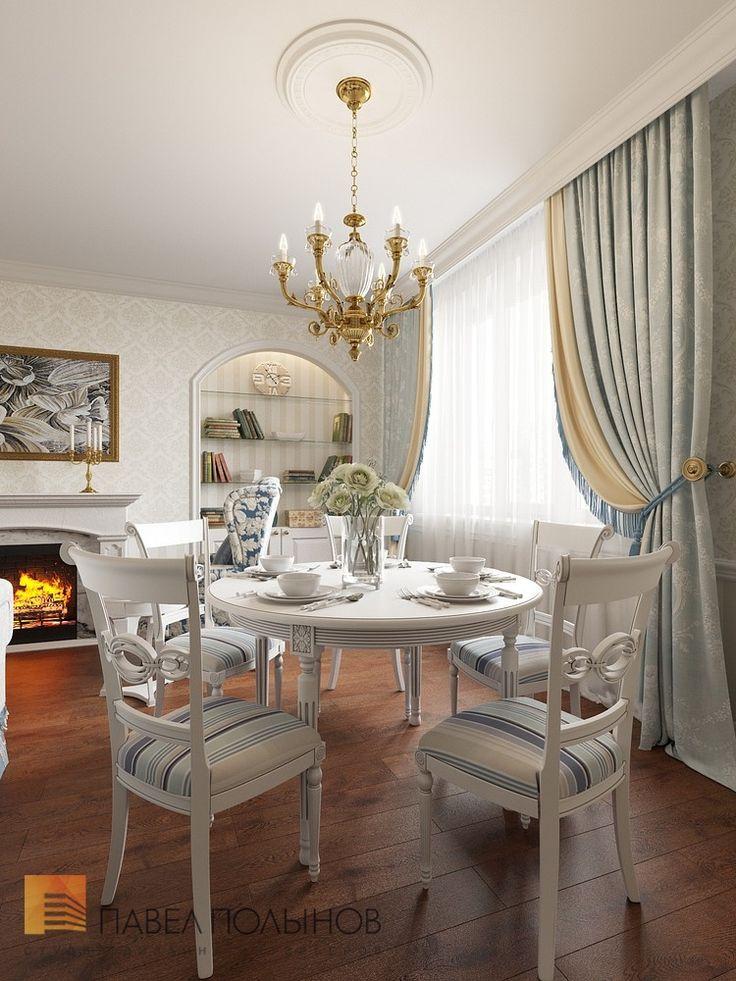 Фото: Камин в гостиной - Квартира в классическом стиле, ЖК «Академ-Парк», 136 кв.м.